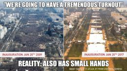 Inauguration Day 2016 - Small Turnout, Small Hands