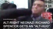 Alt-Right Neonazi Richard Spencer gets an 'alt-hug' during a street interview.