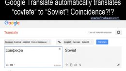Covfefe Translated from Russian by Google Translate is Soviet.