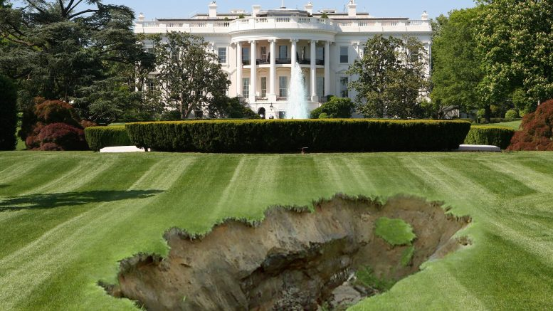 White House lawn sinkhole - the Hellmouth begins to open!